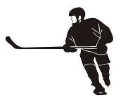 Hockey Player v7 Decal Sticker
