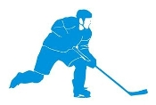 Hockey Player v8 Decal Sticker