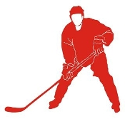 Hockey Player v10 Decal Sticker