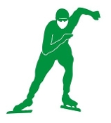 Speed Skater Silhouette v6 Decal Sticker
