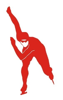 Speed Skater Silhouette v8 Decal Sticker