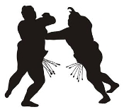 Sumo Wrestler Silhouette 2 Decal Sticker