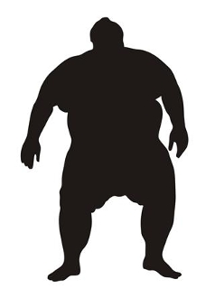 Sumo Wrestler Silhouette 4 Decal Sticker