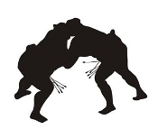 Sumo Wrestler Silhouette 5 Decal Sticker