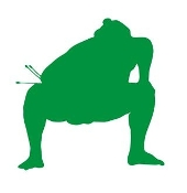 Sumo Wrestler Silhouette 6 Decal Sticker