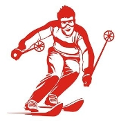 Skiing v8 Decal Sticker