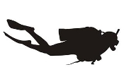 Scuba Diver Silhouette v2 Decal Sticker