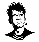 Charlie Sheen Decal Sticker