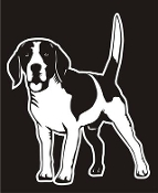 Beagle v4 Decal Sticker