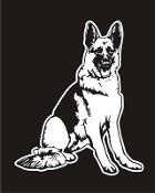 German Shepherd v3 Decal Sticker