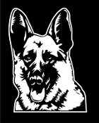 German Shepherd Head v3 Decal Sticker