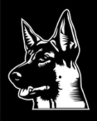 German Shepherd Head v4 Decal Sticker