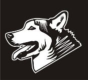Husky Head v2 Decal Sticker