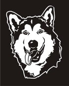 Malamute Head v3 Decal Sticker