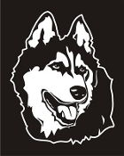 Malamute Head v4 Decal Sticker