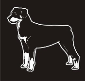 Rottweiler v3 Decal Sticker