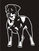 Rottweiler v4 Decal Sticker