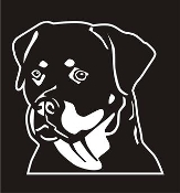 Rottweiler Head v2 Decal Sticker