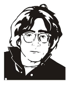 John Lennon v2 Decal Sticker