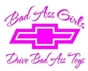 Bad Ass Girls Chevy v2 Decal Sticker