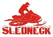 Sledneck Decal Sticker