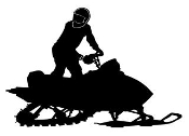 Snowmobile Silhouette v7 Decal Sticker