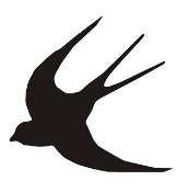 Swallow Bird Silhouette Decal Sticker