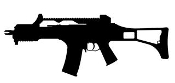 G36 Machine Gun Silhouette Decal Sticker