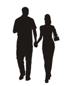 Couple Silhouette v1 Decal Sticker