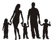 Family Silhouette v2 Decal Sticker