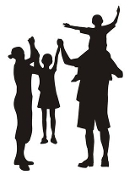 Family Silhouette v3 Decal Sticker