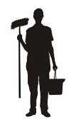 Janitor Silhouette v1 Decal Sticker