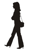 Woman Silhouette v1 Decal Sticker