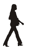 Woman Silhouette v2 Decal Sticker