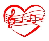 Heart and Music Design v1 Decal Sticker
