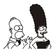 Homer and Marge Decal Sticker