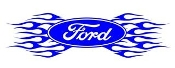 Ford Oval with Flames v5 Decal Sticker