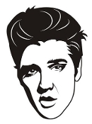 Elvis v2 Decal Sticker
