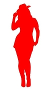 Cowgirl Silhouette v10 Decal Sticker