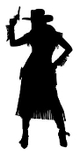 Cowgirl Silhouette v18 Decal Sticker