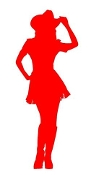 Cowgirl Silhouette v23 Decal Sticker
