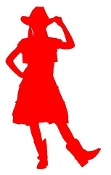Cowgirl Silhouette v7 Decal Sticker
