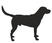 Black Labrador Silhouette Decal Sticker