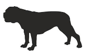 Bulldog Silhouette Decal Sticker