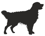 Golden Retriever Silhouette Decal Sticker