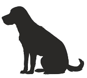 Labrador Retriever Silhouette Decal Sticker