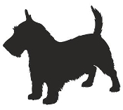 Scottish Terrier Silhouette Decal Sticker