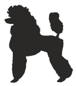 Standard Poodle Silhouette Decal Sticker