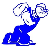 Popeye v7 Decal Sticker