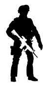 Soldier Silhouette v20 Decal Sticker